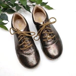 Alegria Essence Faux Snake Skin Metallic Sneakers